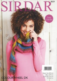 Sirdar 8029 - Colourwheel Dk Easy Crochet - Scarf and Wrap