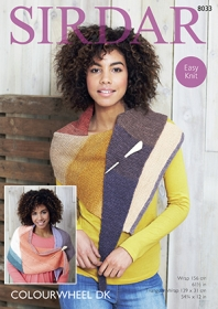 Sirdar  8033 - Colourwheel DK Triangle Wrap