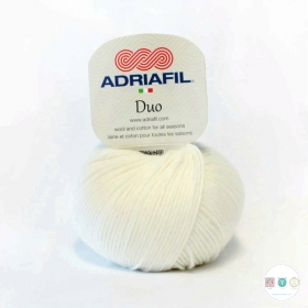 Adriafil Duo Comfort DK Yarn - 50g Balls - Snow White - Col 68 - Knitting Wool