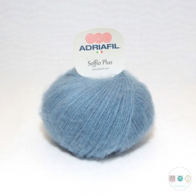 Adriafil Italian Yarn - Soffio Plus 52 - Dusty Denim Blue - DK - 50g - Wool Blend
