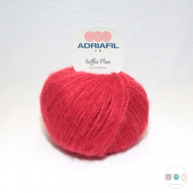 Adriafil Italian Yarn - Soffio Plus 55 - Cherry Red - 50g - Wool Blend