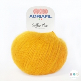 Adriafil Italian Yarn - Soffio Plus 69 - Sunflower Yellow - 50g - Wool Blend