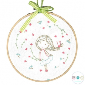Spring Girl - DMC Cross Stitch Kit - Pattern & Thread Included