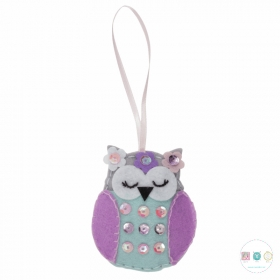 Make Your Own Felt Spring Owl Decoration - Beginners Crafty Childrens Kit - by Trimits