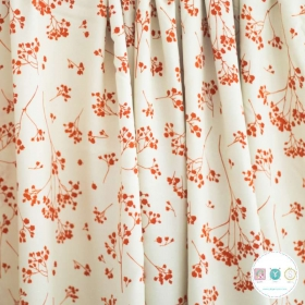 Rust Branches On Cream Viscose Twill - by Mind The Maker - Dressmaking Fabrics