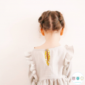 Stella Blouse And Dress - by Ikatee - French Sewing Patterns for Kids - Childrens Dressmaking
