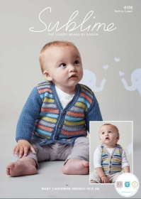 Sirdar Sublime 6139 - Baby's Cardigan & Waistcoat in Baby Cashmere Merino Silk DK - Knitting Pattern