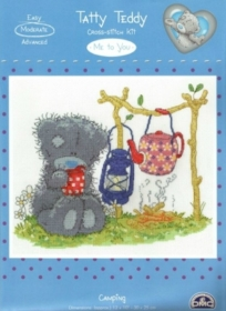 Cross Stitch Me To You Tatty Teddy Camping Kit