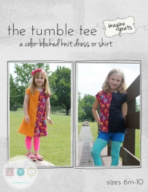 The Tumble Tee Sewing Pattern - Childrens Dress - by Imagine Gnats - Dressmaking