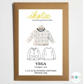 Vega Childrens Cardigan - by Ikatee - French Sewing Patterns for Kids - Childrens Dressmaking