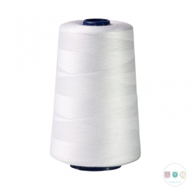 White Thread Spool - Polyester - Overlocker - Serger - Sewing Thread