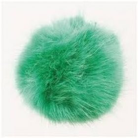 Hat Bobble - Fake Fur Pompom 10cm - Green
