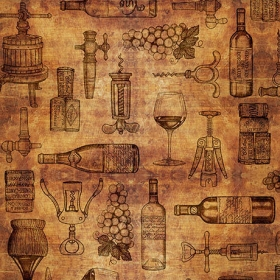Perfectly Vintage - Wine Lovers Fabric - By Dan Morris for Quilting Treasures