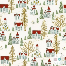 Winter Village - Christmas Village Fabric - by BasicGrey for Moda - Patchwork & Quilting