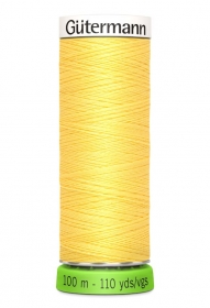 Gutermann Sew All Thread - Yellow Recycled Polyester rPET Colour 852