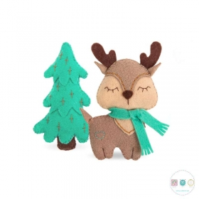 Young Deer Felt Kit - DIY Toy by MiaDolla - Make Your Own - Gift