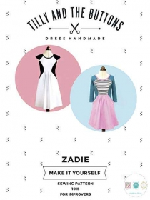 Tilly and The Buttons - Zadie Dress - Sizes UK 6 - 20 - Ladies Sewing Pattern