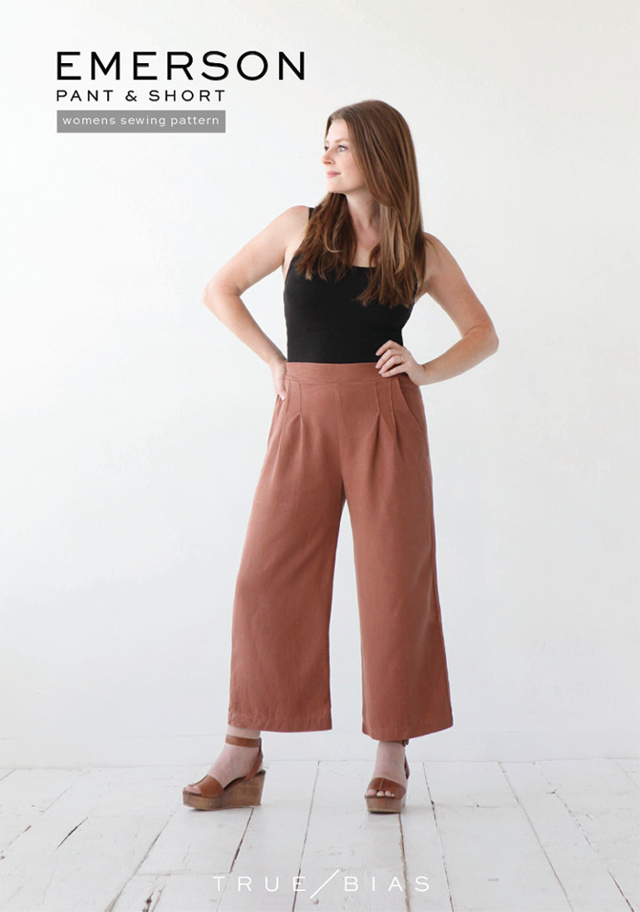 True Bias - Emerson  Pant And Short Sewing Pattern