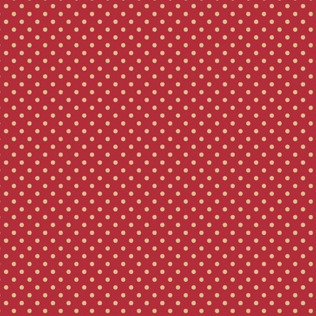 Truly Gorjuss Fabric Collection by Santoro for Quilting Treasures. Cream Spots on Red Background