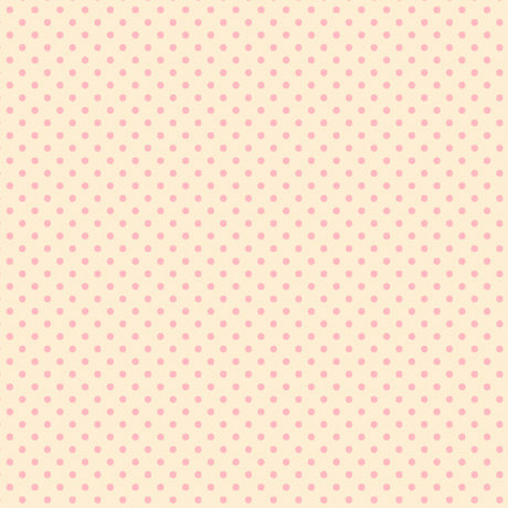 Truly Gorjuss Fabric Collection by Santoro for Quilting Treasures. Pink Spots on Cream Background