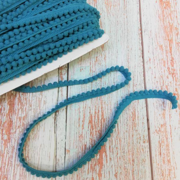 10mm Turquoise Mini Pom Pom Trim