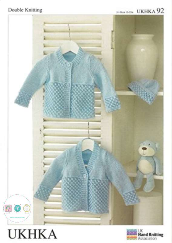 3f9f52f96 UKHKA 92 - Baby Cardigan - DK - Knitting Pattern - Quilt Yarn Stitch