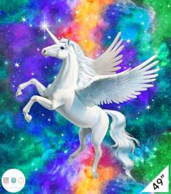 3D Unicorn Fabric Panel - Artisan Spirit Imagine -  49