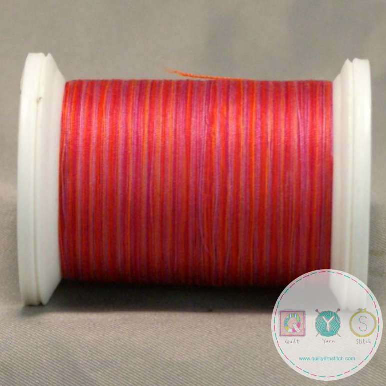 YLI Machine Quilting Cotton Thread - 40 wt - V73 Maui Sunset - Red - Sewing Thread