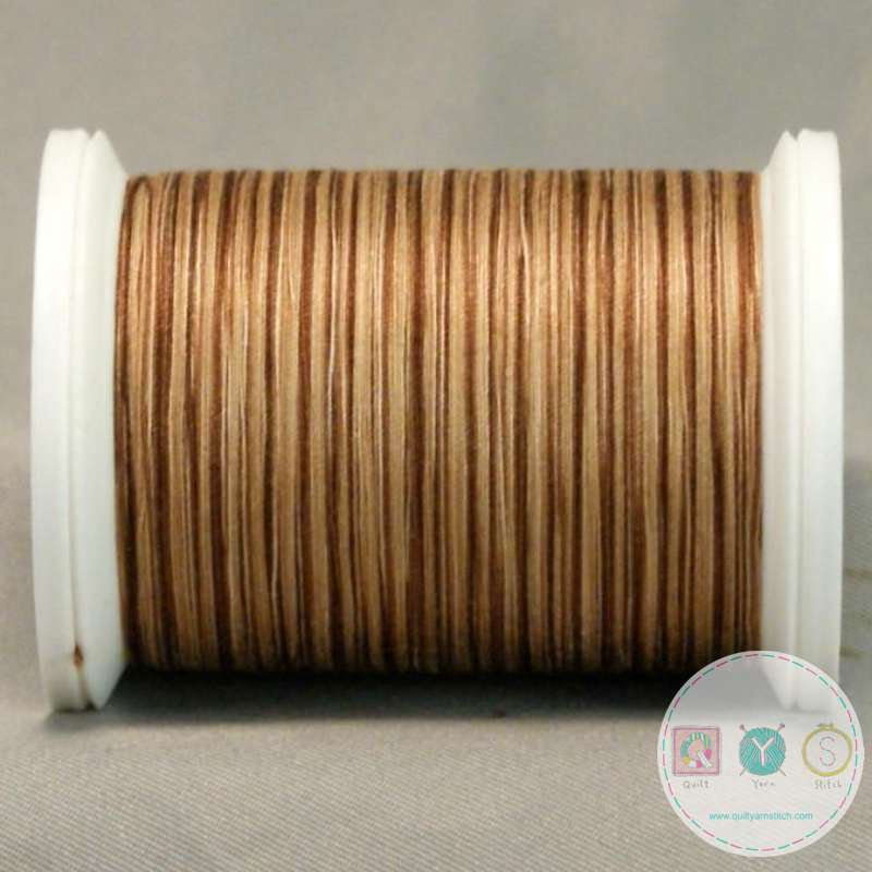 YLI Machine Quilting Cotton Thread - V83 Cafe Romano - Brown and Cream