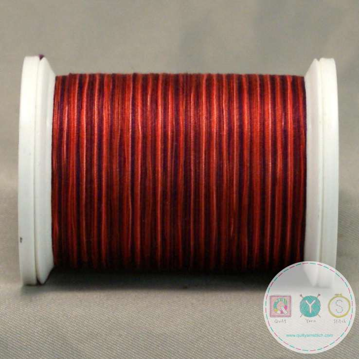 YLI Machine Quilting Cotton Thread - V87 Moroccan Spice Thread - Rusty Reds and Oranges