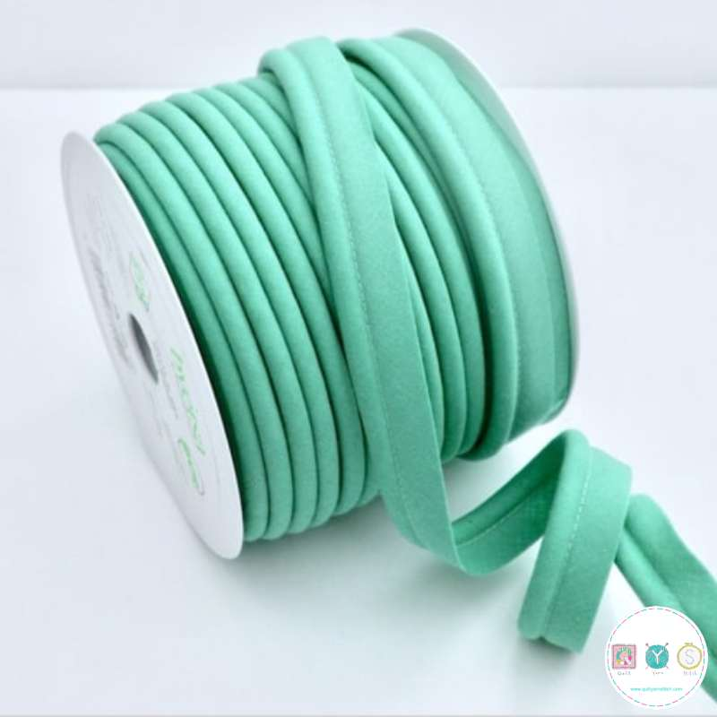 Byetsa Fany Bias Binding Piping - Sea green -Verde 323 - 18mm - Insertion Cord - Trimming - 18mm - Haberdashery