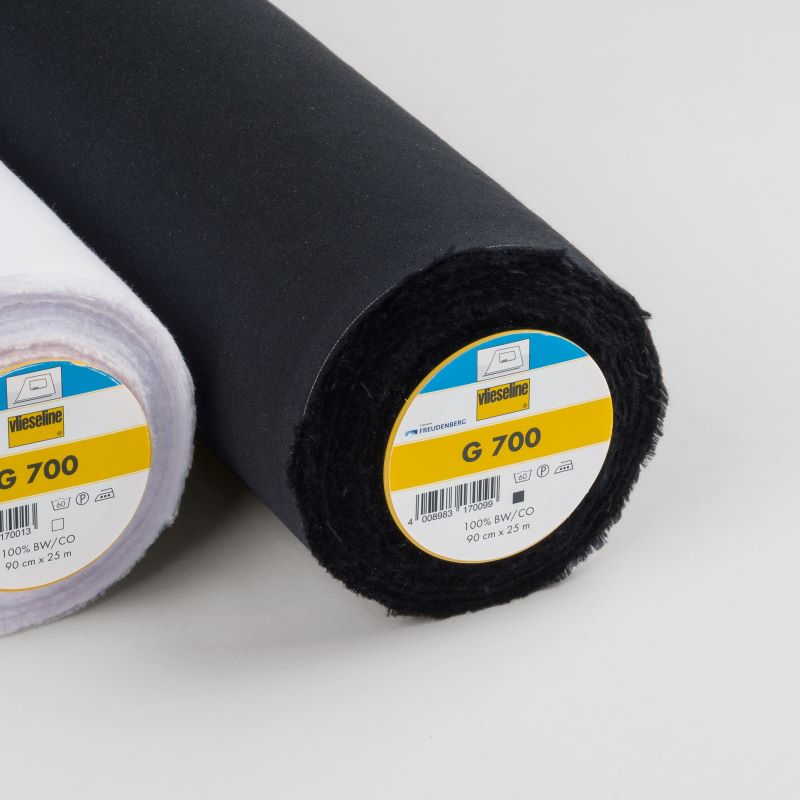 Vlieseline G700B Black Heavy Weight Woven Fusible Interfacing