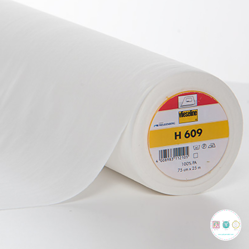 Vlh609 White - Vilene Fusible Knit Bi-elastic Interlining Fabric / Interfacing Stretch - Vlieseline - Dressmaking