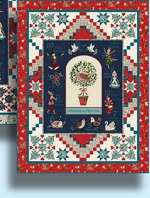 Gift Idea - 12 Days of Christmas Quilt Kit Version 2