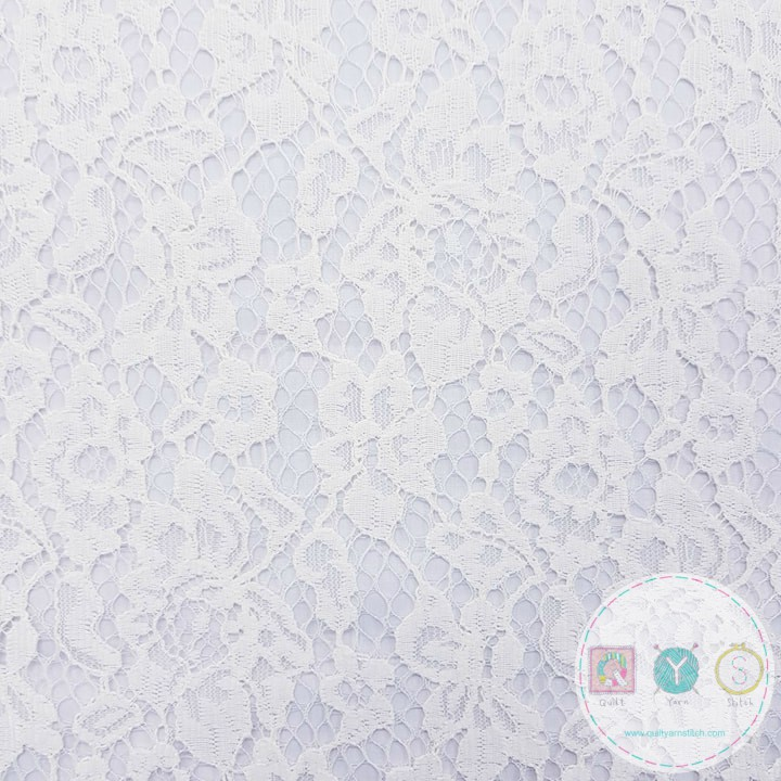 Ivory Corded Lace - Bridal Dress Fabric - Decorative - Dressmaking