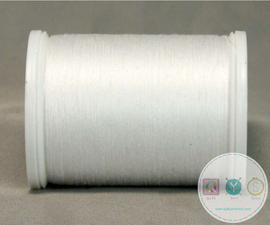 YLI Machine Quilting Cotton Thread - White 244-50-WHT - Bright White Thread