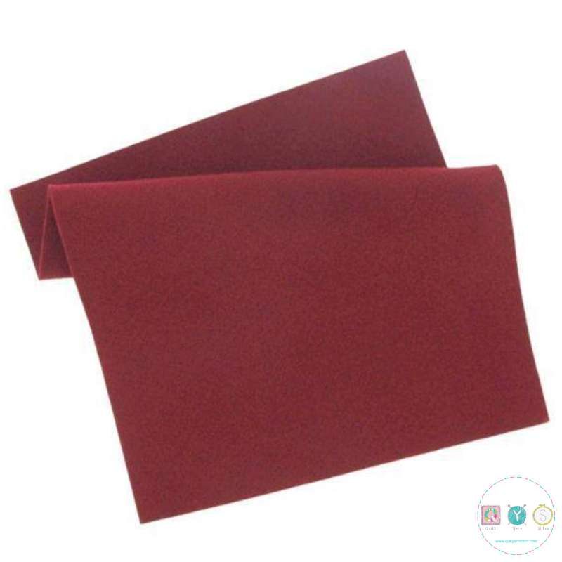 Wine Red Felt Sheet - 12