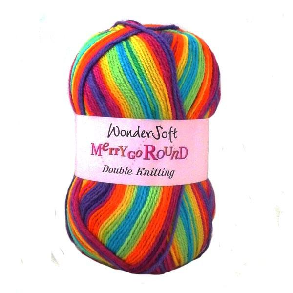 Stylecraft Wondersoft  Yarn - Merry Go Round - DK Wool - Rainbow 3142