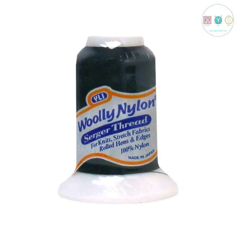 YLI Woolly Nylon Serger Thread - Black 600