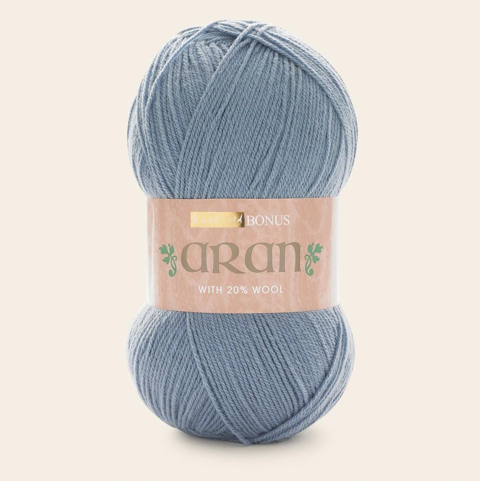 Yarn Hayfield Bonus Aran by Sirdar Mill Blue 817