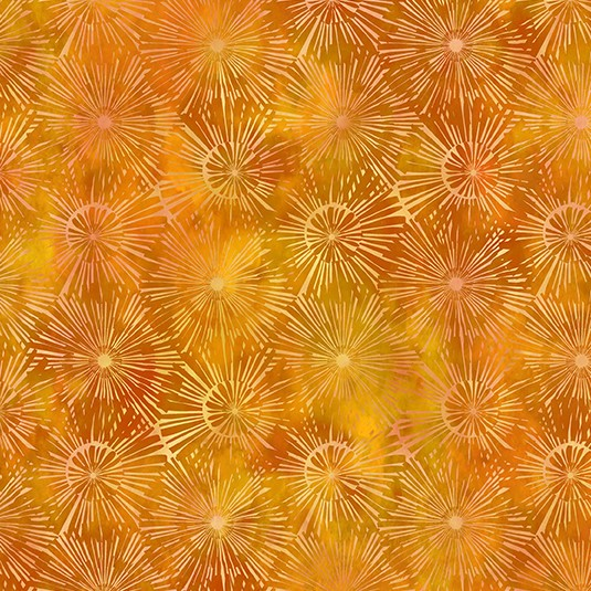 Dandelion on Yellow Fabric - Urban Jungle by In The Beginning Fabrics