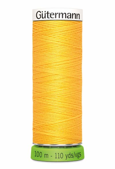 Gutermann Sew All Thread - Yellow Recycled Polyester rPET Colour 417