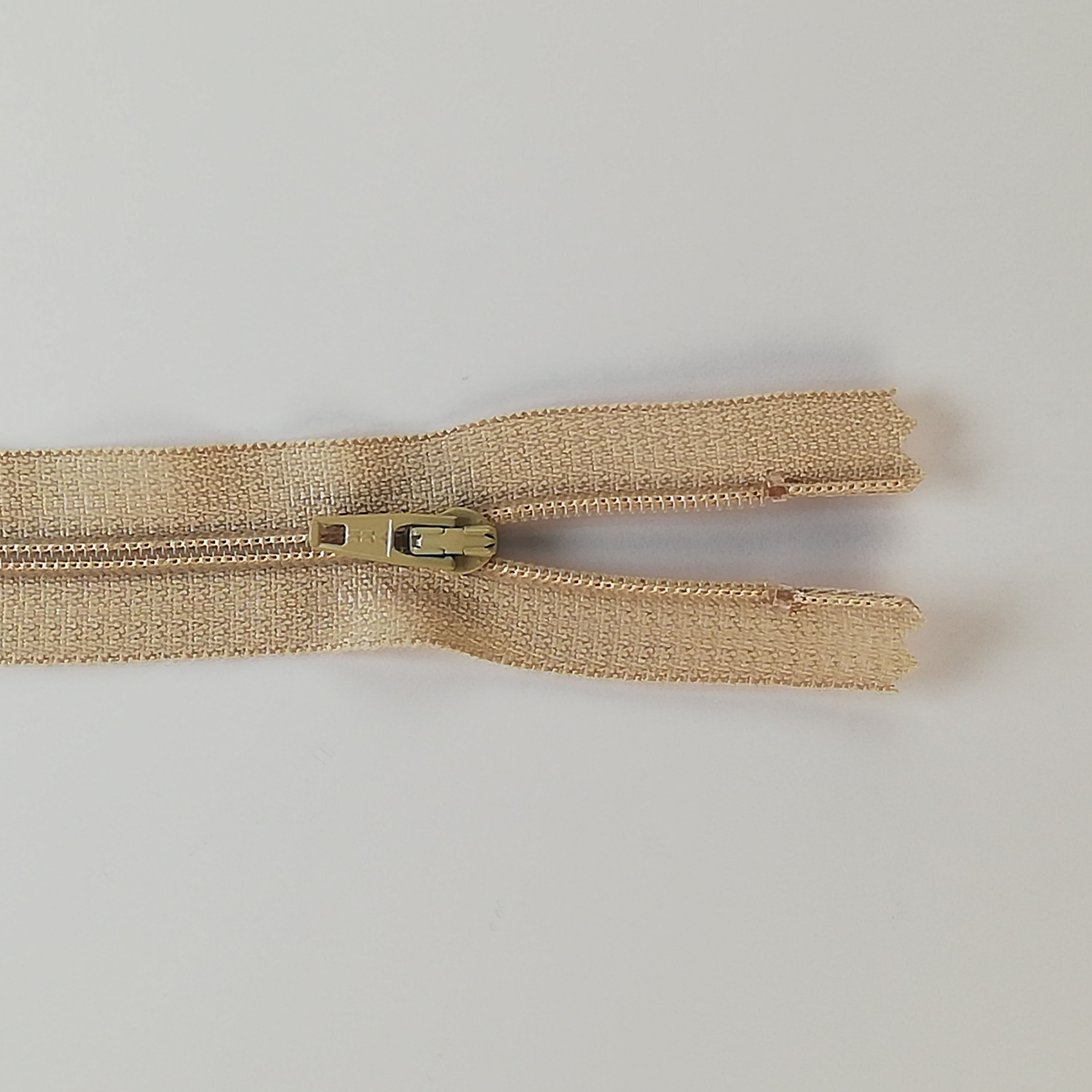 YKK Zip - 20cm Closed End Nylon - Beige 572
