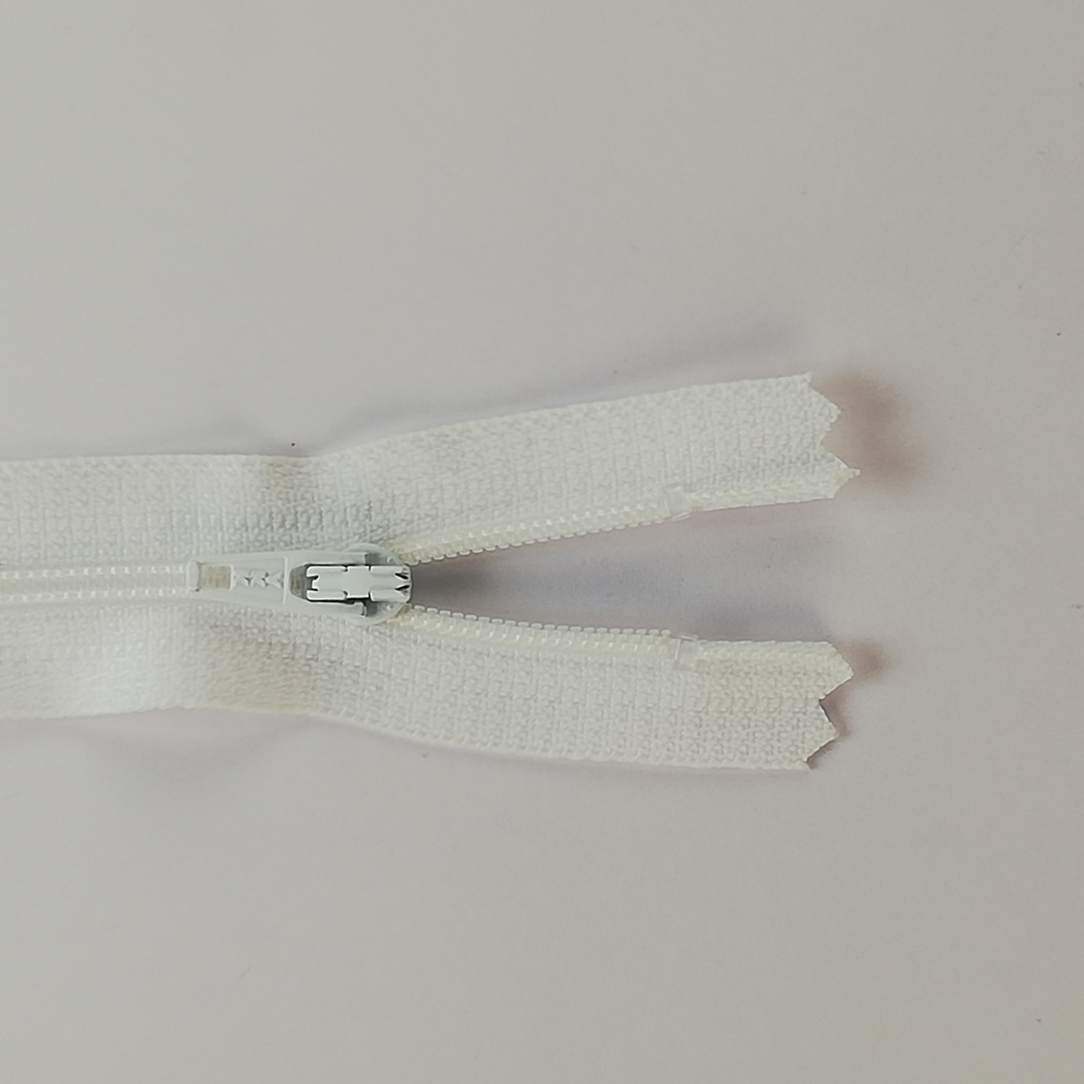 YKK Zip - 18cm Closed End Nylon - White 501