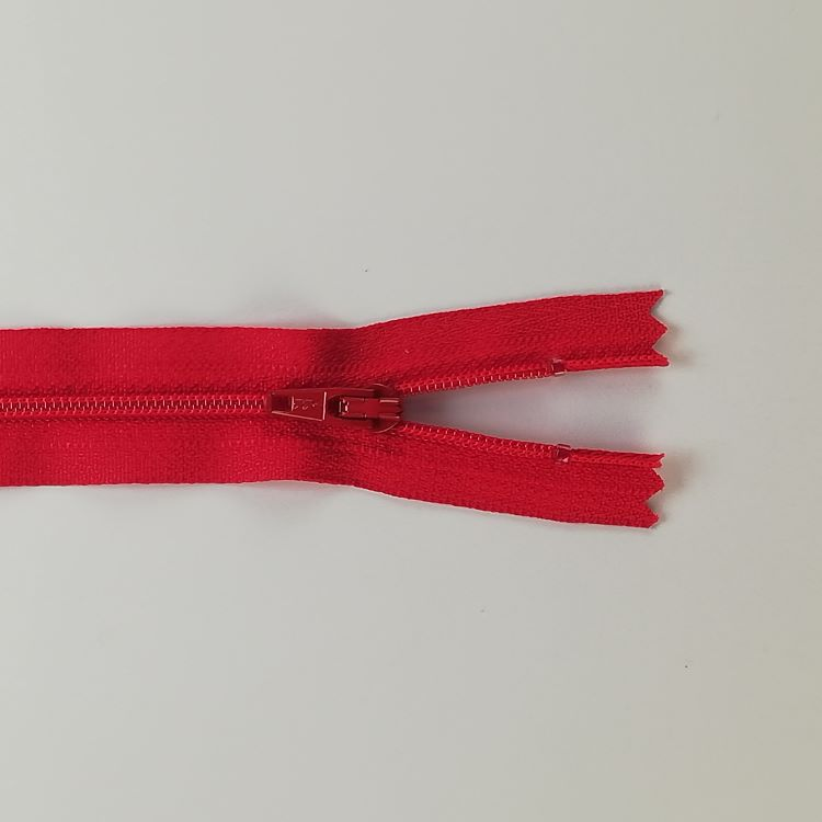 YKK Zip - 20cm Closed End Nylon - Red 519